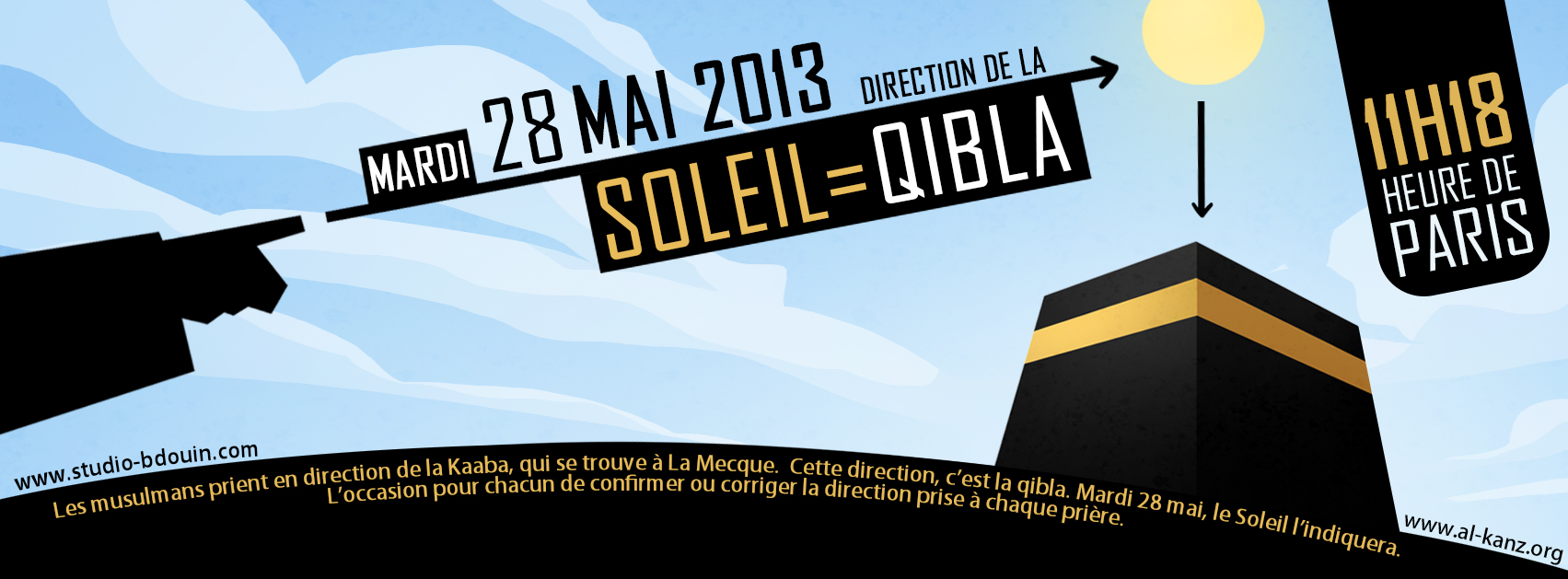 Qibla Soleil 28 mai