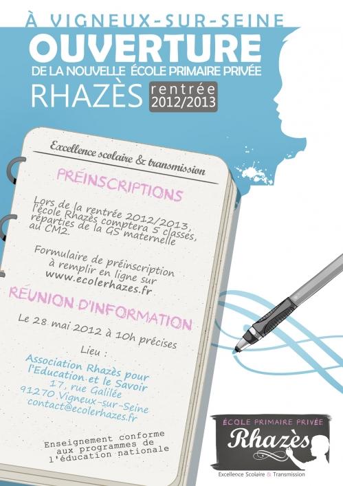 L'école Rhazès ouvre ses portes et recrute des professeurs