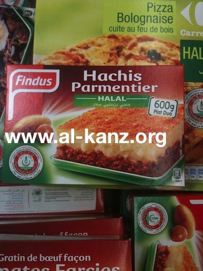 Findus halal SFCVH-mosquée de Paris