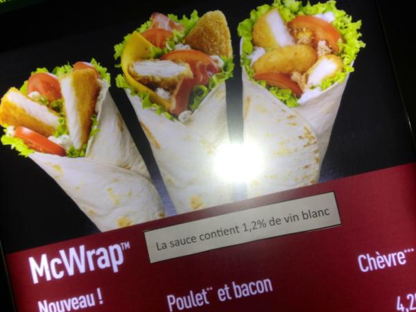 McWrap poisson, par McDonald's