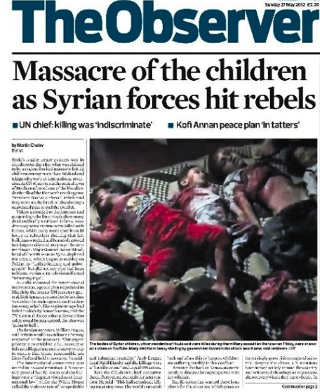 Massacres en Syrie - The Observer