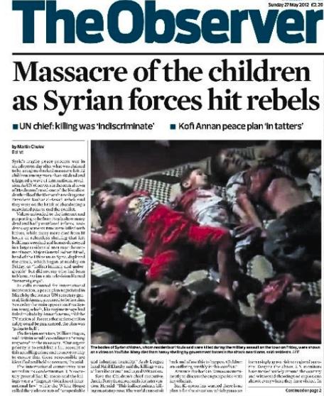 Massacres en Syrie - The Observer