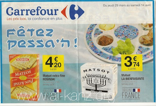 Carrefour n'ignore pas Pessah
