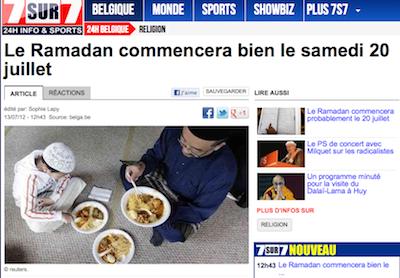La presse belge décrète que le 20 juillet sera un samedi