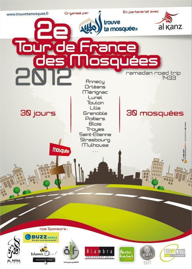 2e tour de France des mosquées, l'affiche