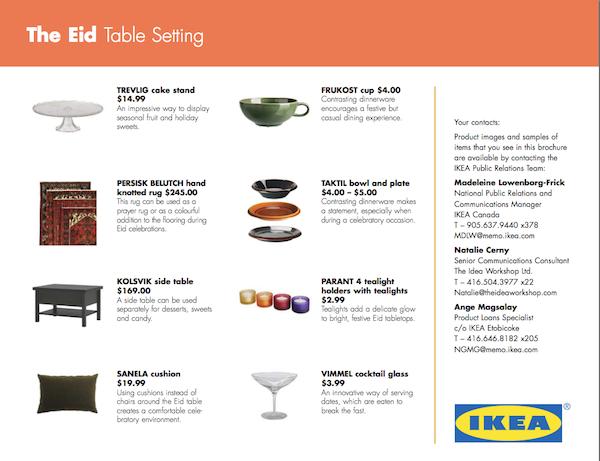 En 2004, IKEA fêtait l'aïd al-fitr