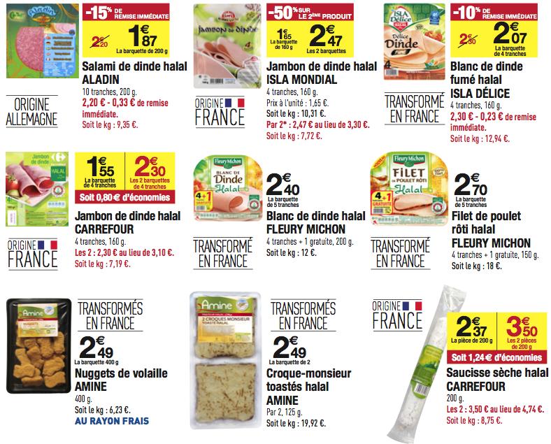 pseudo halal chez Carrefour