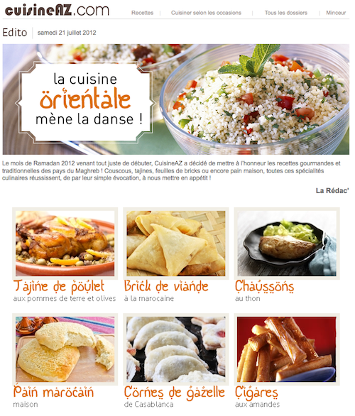 Ramadan chez cuisine az for Cuisine az