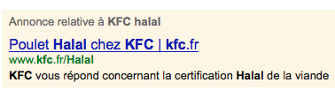 KFC non halal