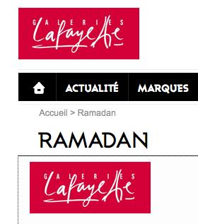 ramadan moubarak galeries lafayette