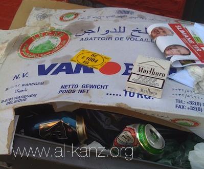 Roubaix : dans la poubelle d'un boucher musulman