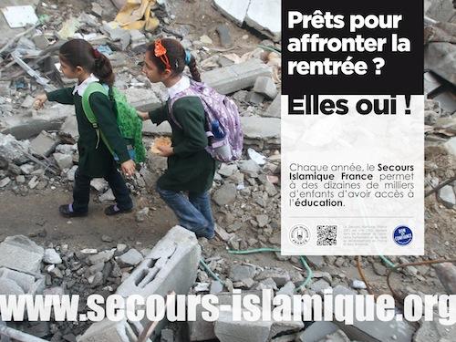 Affiche Secours islamique dans le métro
