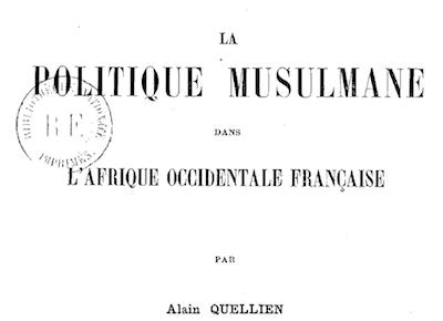 islamophobie Alain Quellien