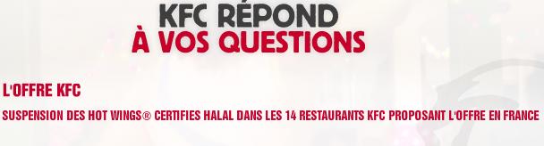 Halalgate : KFC cesse le faux halal en supprimant son offre