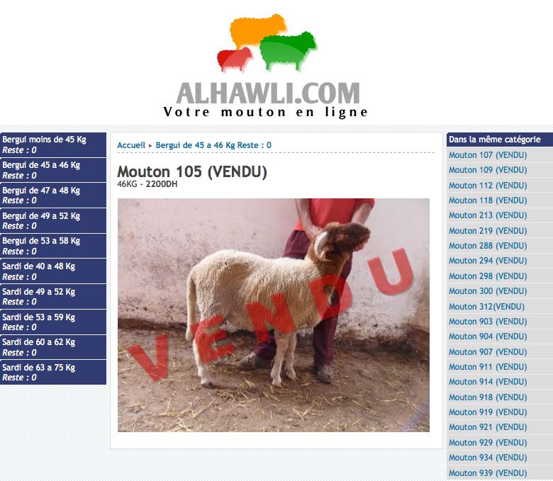 Mouton sur Internet