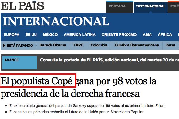 copé populiste El Pais