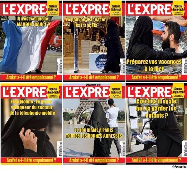 couverture express islamophobie