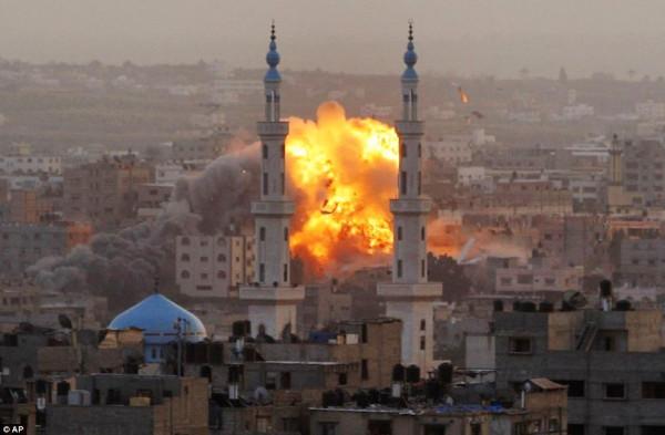 Gaza en feu