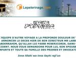 Autre Voyage décès du directeur Larbi Abderrahim