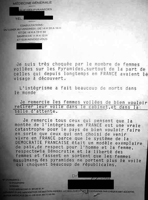 Evry : Un médecin refuse les femmes voilées