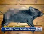 Porc mort devant une mosquée à Houston, USA