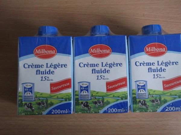 Milbona, une crème sans gélatine
