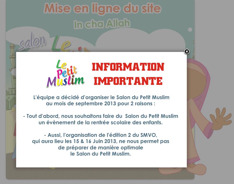Report du salon du petit muslim