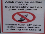 Eteignez vos téléphones à la mosquée