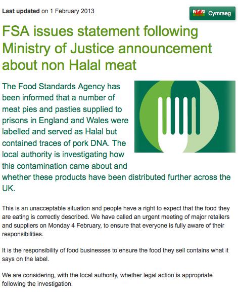 ADN porc halal FSA