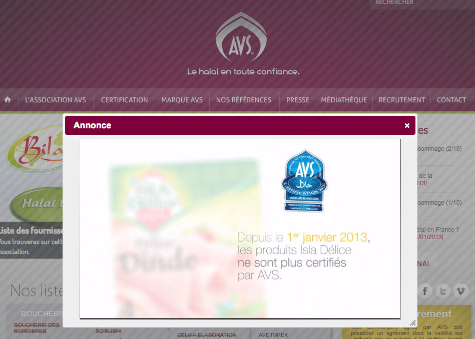 AVS page d'accueil