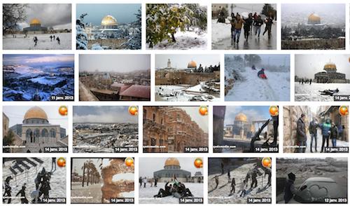Palestine sous la neige