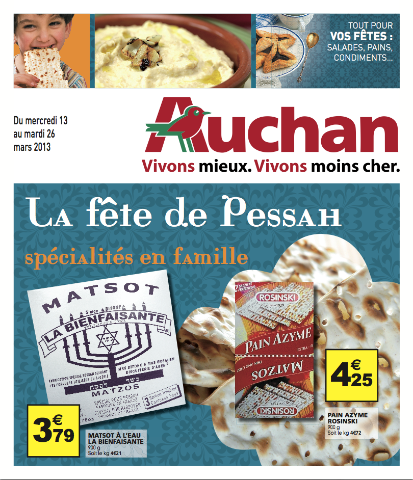 Catalogue Auchan Pessah