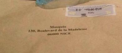 une enveloppe avec du porc pour votre mosquée