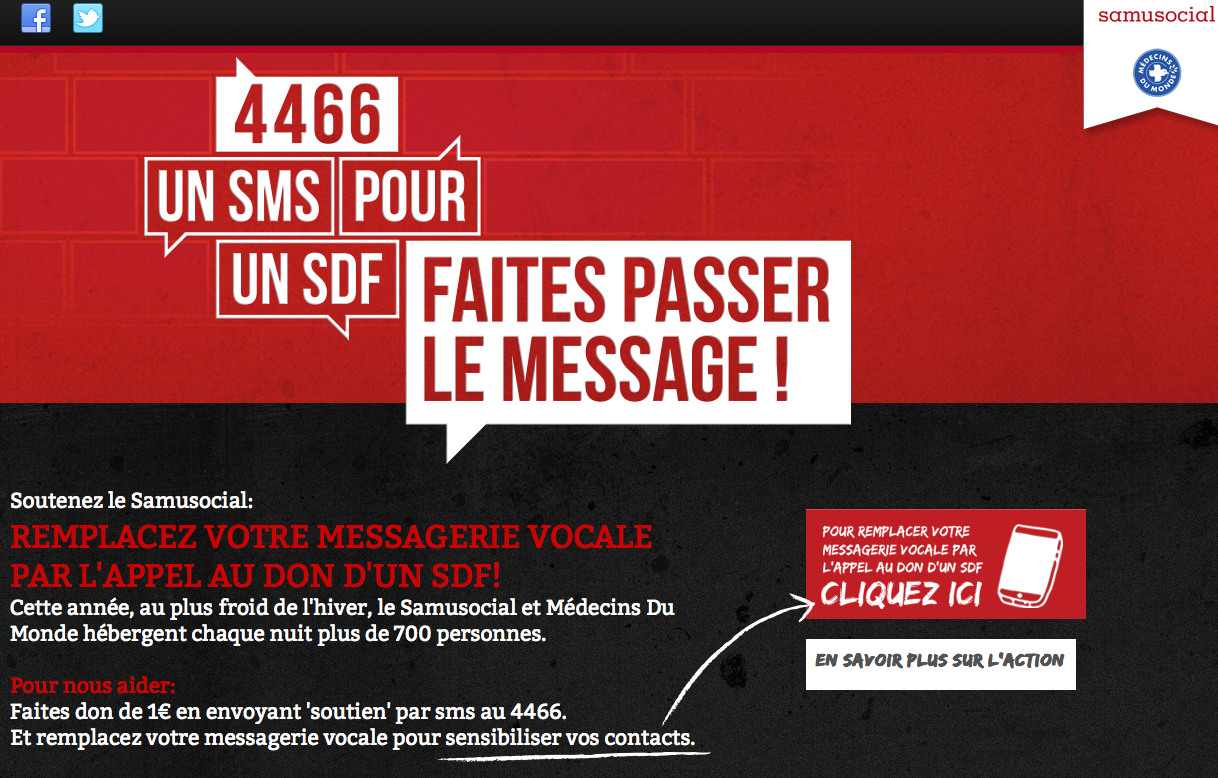 4466 SMS pour les SDF