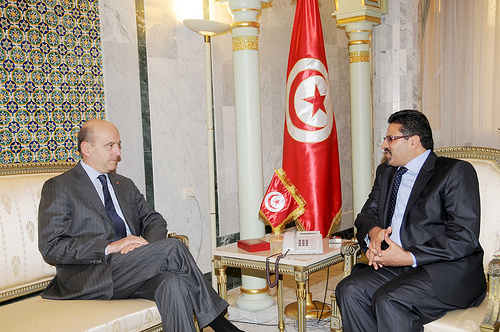 Alain Juppé  en Tunisie