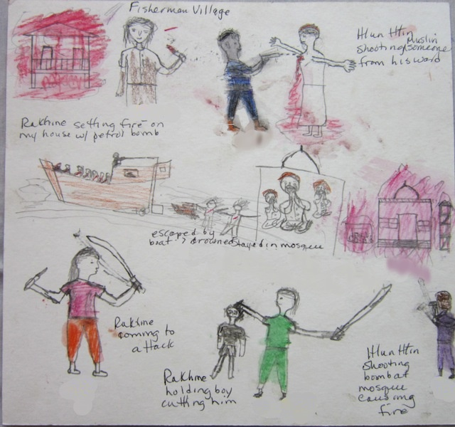 dessin rohingya