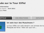Hoax : mosquée tour Eiffel