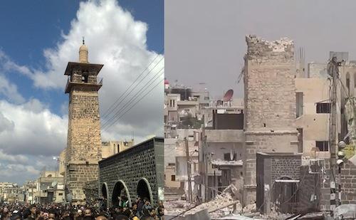Minaret de la mosquée Al-Umari Syrie
