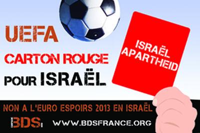 UEFA israel 2013 BDS
