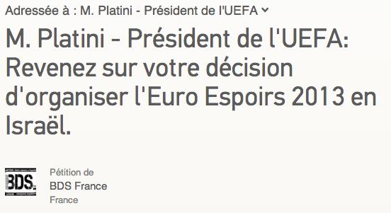 appel platini uefa 2013