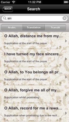 application hisnul muslim