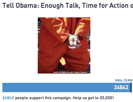 Guantanamo : près de 25 000 personnes demandent sa fermeture