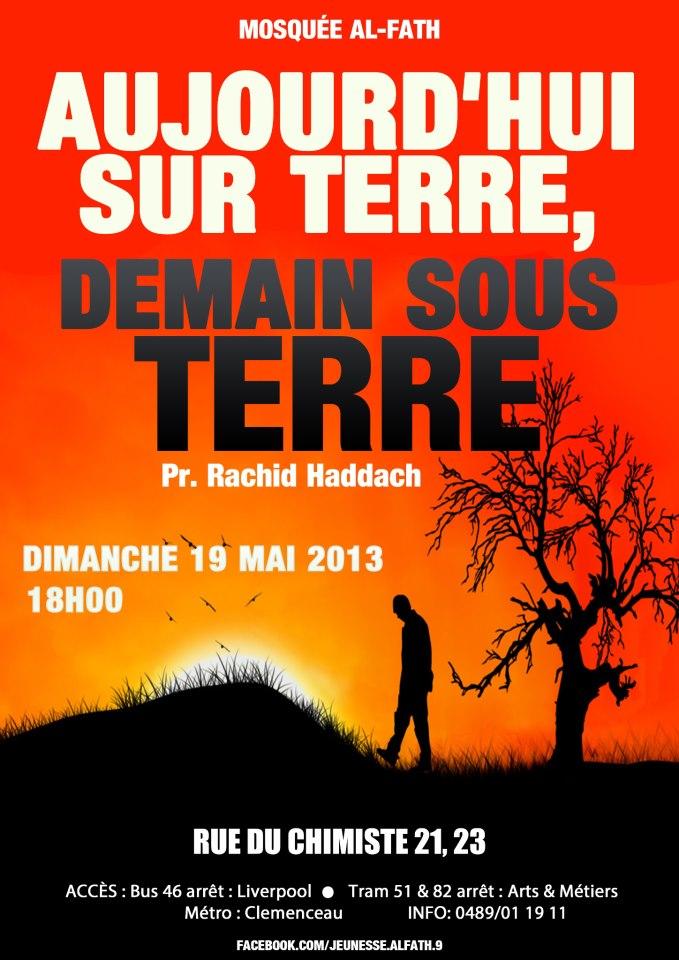 Aujourd'hui sur terre, demain sous terre - Pr. Rachid Haddach