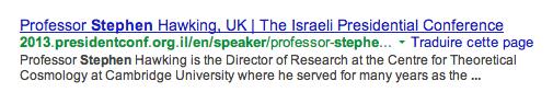 stephen hawking boycotte israel