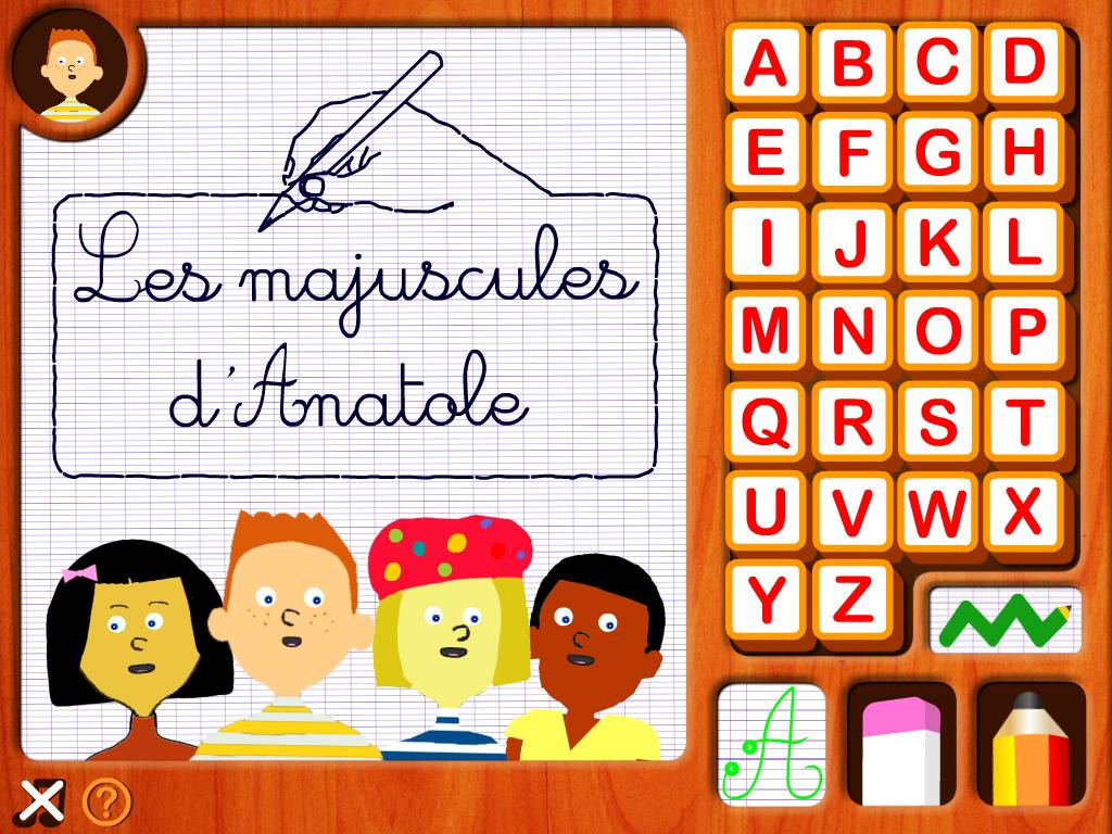 Les majuscules d'Anatole- écrire l'alphabet arabe