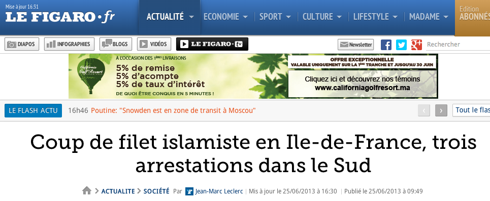 islamo braqueur Le Figaro