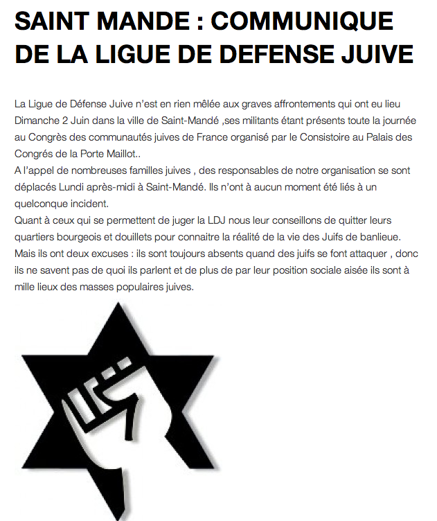 ligue defense juive