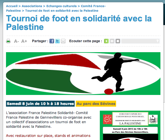 Gennevilliers solidaire de la Palestine
