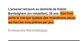 paris-match et les musulmans qui prient cinq fois par jour