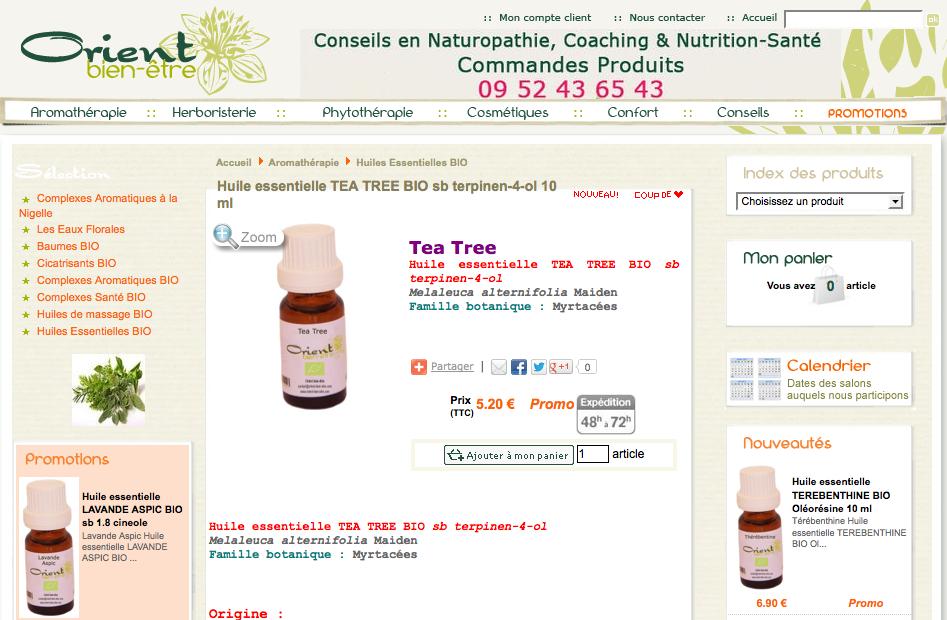 Arôme et Orient, arômathérapie et huiles essentielles bio